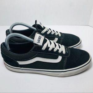 Vans Old Skool Black Suede Leather Sneakers Sz 8.5